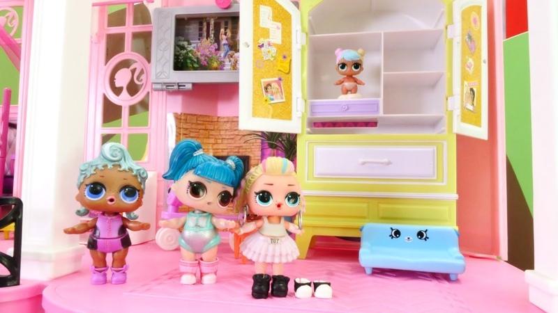 LOL oyuncak bebek evi. İlk sabah hazırlıkları