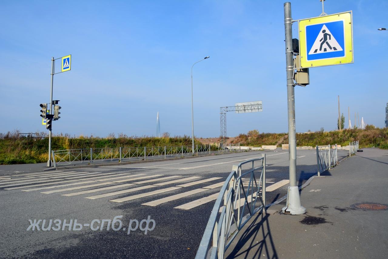 Самый безопасный пешеходный переход в Санкт-Петербурге