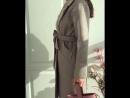 Пальто в пушистым воротником 8700₽ Цвета бежевый 👆🏼 серый Размеры 40 48 Хлопок 65% полиэстер 35%