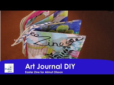 E Art Journal DIY 8 Zine for Almut Olsson
