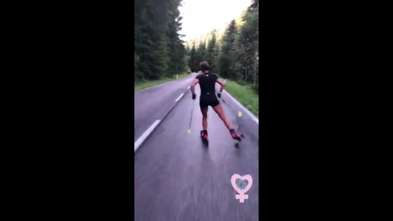 велотренировка Доротеи в Ливиньо