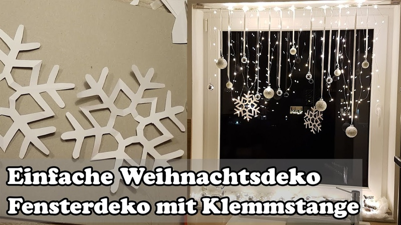 DIY Fenster Weihnachtsdeko mit Gardinenstange Christmas window decoration