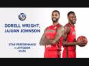 19 1 19 Дорелл Райт и ДжаДжуан Джонсон набирают 52 очка в матче против Автодора