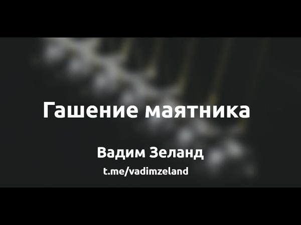 Гашение Маятника - Вадим Зеланд раздаёт советы!