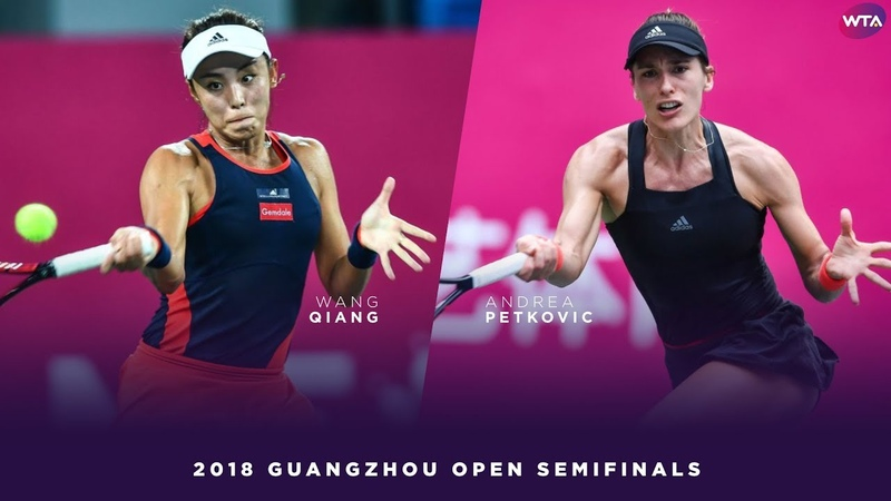 Wang Qiang vs. Andrea Petkovic | 2018 Guangzhou Open Semifinals | WTA Highlights