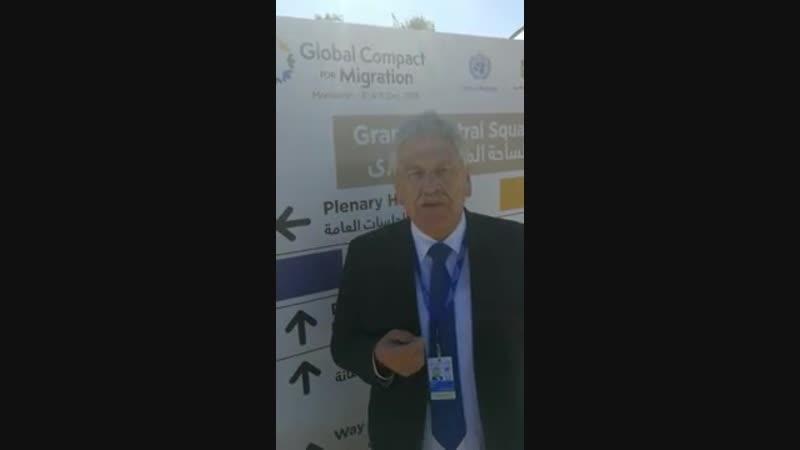 Udo Voigt, Europaabgeordneter der NPD Live aus Marrakesch