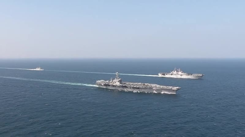 U.S. Navy Ships and aircraft of the John C. Stennis Carrier Strike Group and Essex Amphibious Ready