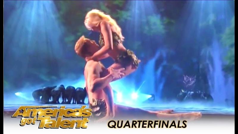 Zurcaroh Best Dance Group RECREATE Adam Eve In Heaven!