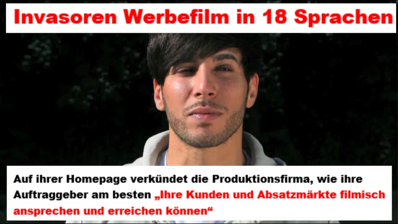 Invasoren Werbefilm in 18 Sprachen durch die BRiD NGO Terrororganisation international verbreitet