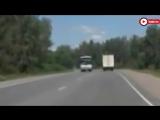 Момент лобового столкновения фуры и «Киа» попал на запись регистратора Авария произошла под Челябинском.