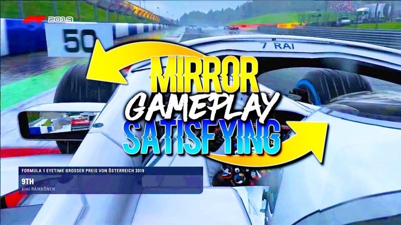 SATISFYING F1 2019 Mirror Gameplay! Kimi Raikkonen Sauber Austria Grand Prix Heavy Rain