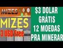 MIZES BIZ ☛Saindo forno $3 grátis com a VOZEX Mineradora com 12 criptomoedas para você minerar