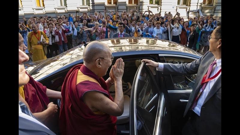 Буддийские общины на учениях Далай-ламы в Риге (2018)