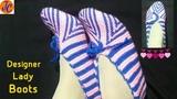 Designer Knitting Lady BOOTS (Size - N. 5 # 6) Hindi L-54 Jasbir Creations