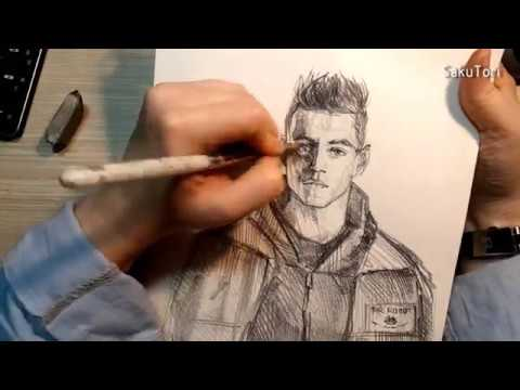 Mr. Robot Elliot Alderson Rami Malek Speed drawing by SakuTori