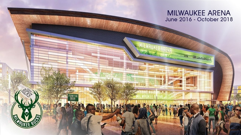 Milwaukee Bucks Fiserv Forum Construction Time-Lapse