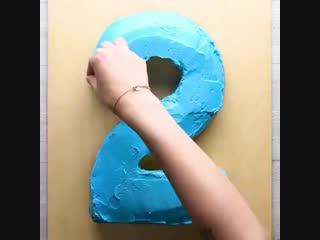 готовим тортик в виде цифры ребенку на д/р
