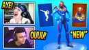 NINJA MYTH REACT TO *NEW* CRITERION SKIN INFINITE DAB EMOTE Fortnite FUNNY Moments