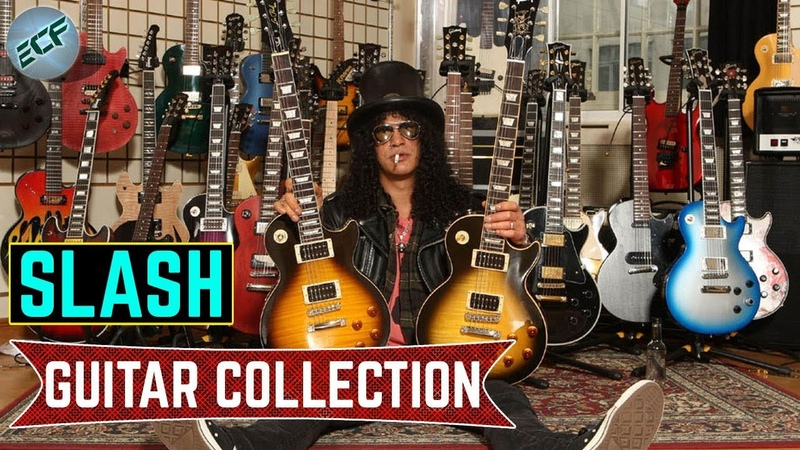 Guns N' Roses lead guitarist Slash guitar collection 2018