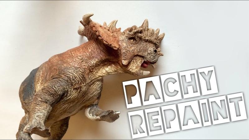 How to: Pachyrhinosaurus repaint! Battat dinosaur speed paint