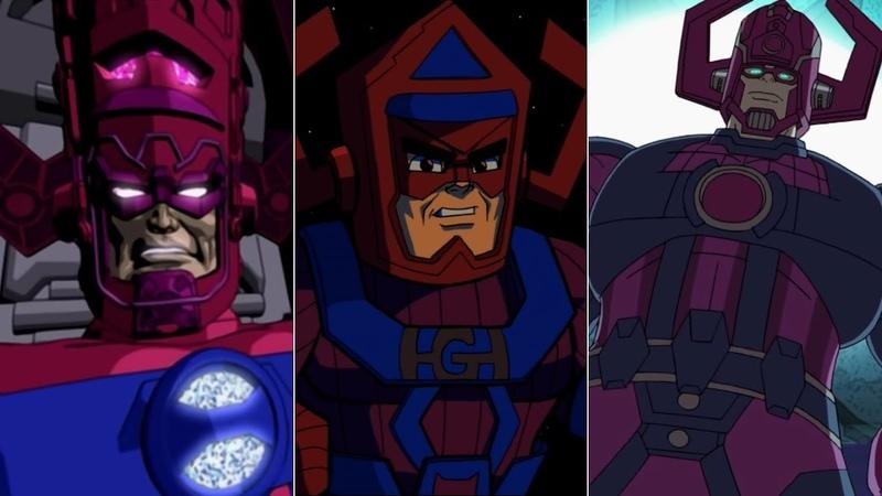 Эволюция Галактуса в мультфильмах и кино/Evolution of Galactus in movies and cartoons