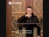 Что будет, если министр решит пообщаться с прессой на улице зимой в Канаде