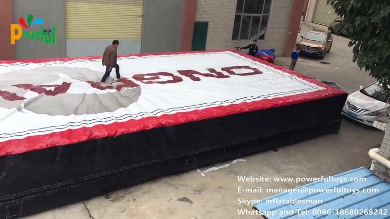 Trampoline park airbag testing