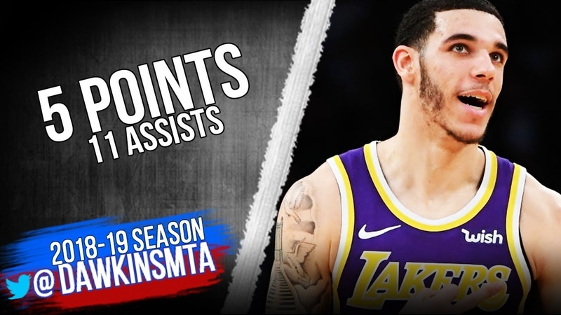 Lonzo Ball Full Highlights 2019.01.09 Lakers vs Pistons - 5 Pts, 11 Asts   FreeDawkins