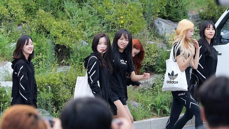 180820 구구단(gugudan) 출근길 [아육대] 4K 직캠 by 비몽