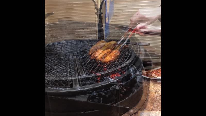 Жареная свиная грудка самгепсаль в Омманэ