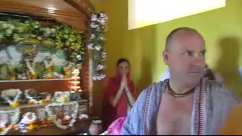 1 часть В гостях у Гоурангабачалы и Шри Вишну таттвы Прабху Храм Шри Шри Радха Раман 07 05 2019