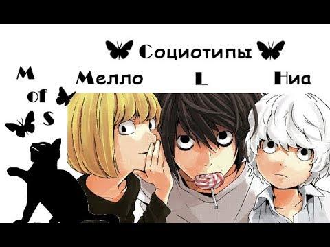 Социотип Рюдзаки, Мелло, Ниа. Детективы в аниме Тетрадь смерти