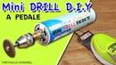 How to make Mini drill FOOTSWITCH - Mini trapano fai da te, si accende da pedale