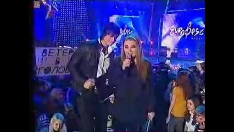 Dmitry Koldun and Anastasija Tihanovich - Eurofest in Belarus 2009 (funny moment)