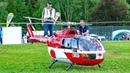 BIG RC BO-105 SCALE MODEL TURBINE HELICOPTER FLIGHT DEMONSTRATION