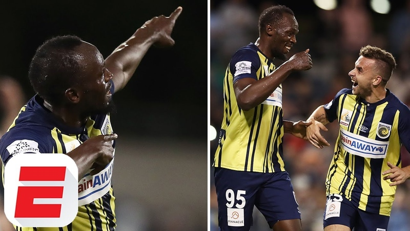 Highlights: Usain Bolt Scores Two Goals On Full Football Debut For Central Coast Mariners
