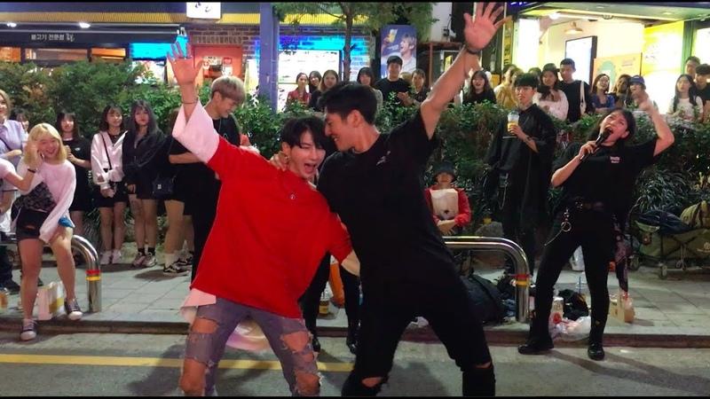 [180909] Former maxxam 김민석 (Minseok), 최은철 (Euncheol) w/friends 유빈, 영욱석준! BTS, Psy more