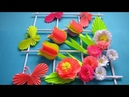 DIY. Simple Home Decor. Wall Decoration. Hanging Flower. Paper Craft Ideas