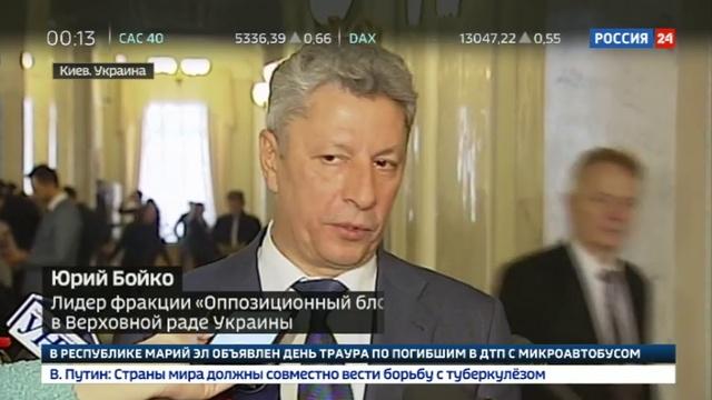 Новости на Россия 24 • Украинская оппозиция выступила против закона о реинтеграции Донбасса