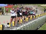 Сборы на высоте 1400 метров: женская команда по биатлону готовится к сезону в Сочи(август 2018)