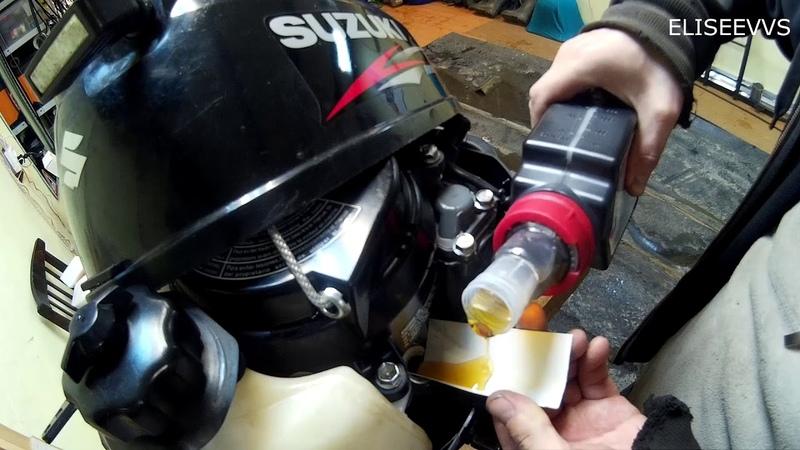 замена масла в моторе и редукторе SUZUKI DF2 5