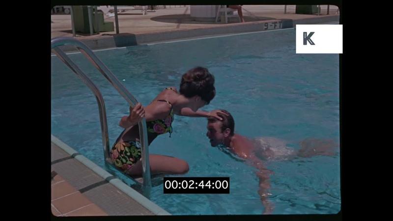 Luxury Hotel Swimming Pool 1960s Miami Florida 35mm