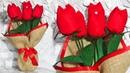 Цветы своими руками из ткани. Подарок к 8 Марта