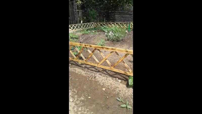Забор на палисад