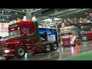 Mega rc model truck action!! rc scania, rc man, rc mb actros, rc us trucks