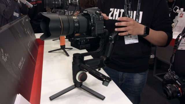 ZHIYUN CRANE 3 LAB Gimbal Newsshooter at IBC 2018