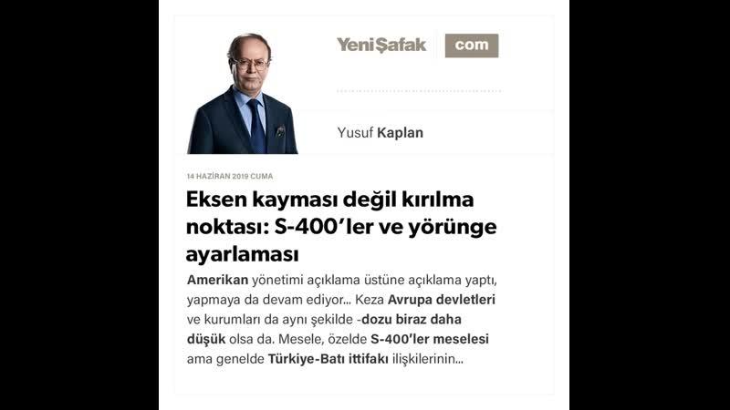 Yusuf Kaplan - Eksen kayması değil kırılma noktası_ S-400'ler ve yörünge ayarlaması - 14.06.2019