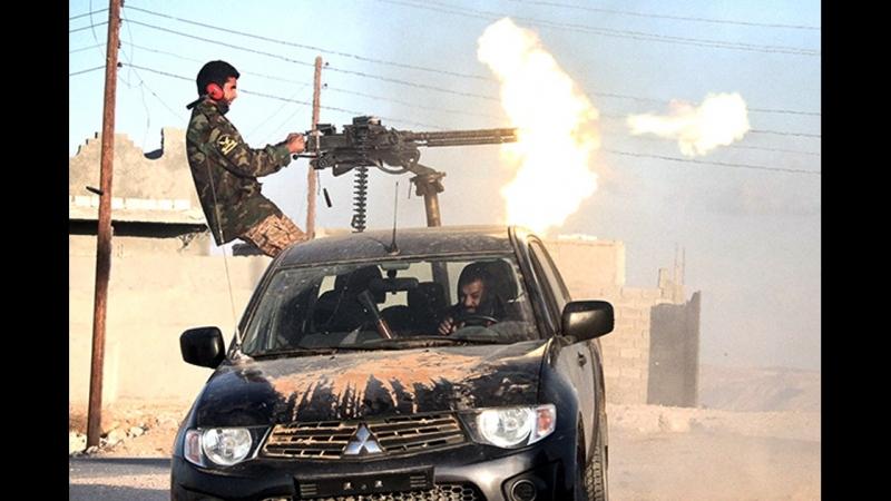 Загранотряд Правосеков на джипах стреляются с срочниками ВСУ