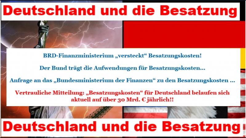 Deutschland und die Besatzung - So sehe ich die Gesamtsituation