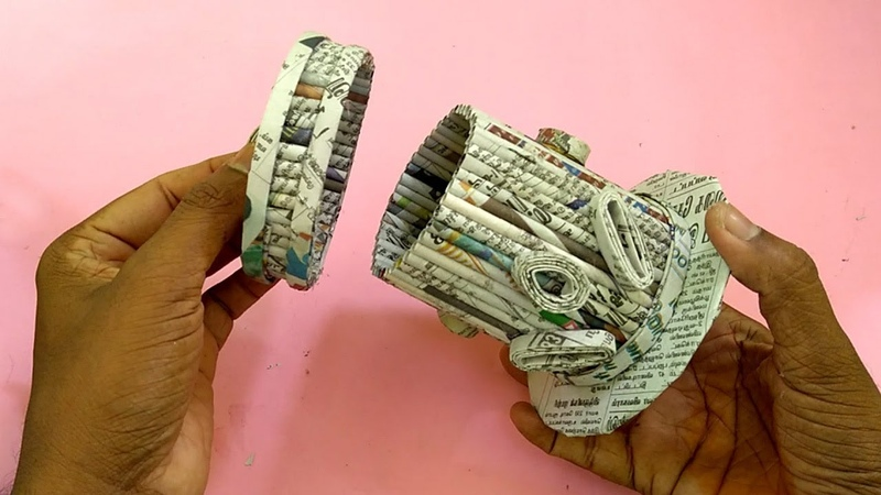 How to make a Storage box/Jewel Box Using Newspaper | All type Videyos